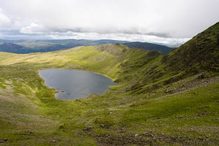 Red Tarn and Striding Edge on Helvellyn: a classic glacial cirque