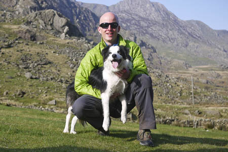 Rob Johnson and his search dog Skye