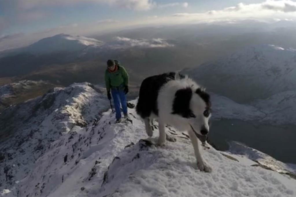Crib Goch and Snowdon are in winter condition. Image: Rob Johnson