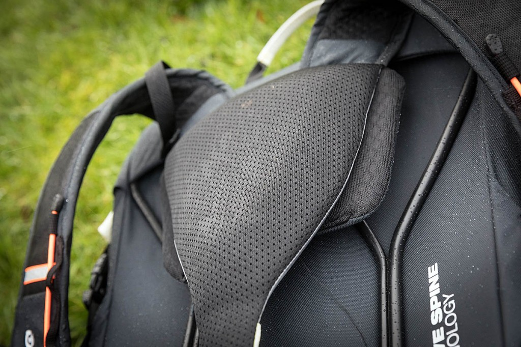 Part of the back system on the Mammut pack. Photo: Bob Smith/grough