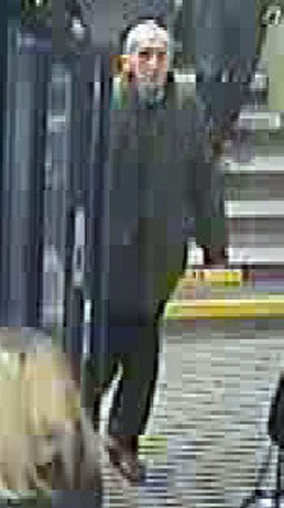 A CCTV image of Mr Lytton at Piccadilly Station