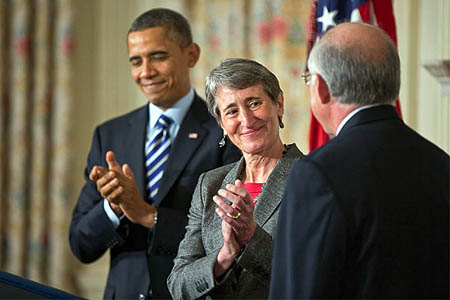 Sally Jewell is appointed Secretary for the Interior. Photo: Pete Souza/White House CC-BY-3.0