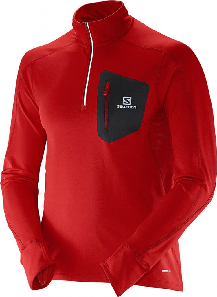 Salomon Trail Runner Warm LS Zip Tee