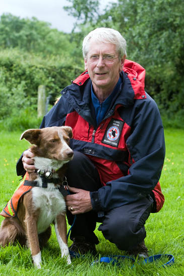 Sarda England chair Ian Thompson with his dog Ben