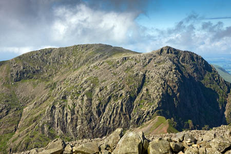 Five of the walkers were found near the East Buttress of Scafell