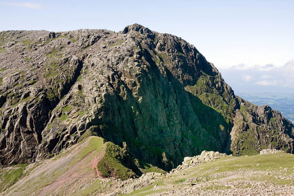 Scafell, with Broad Stand and Mickledore Chimney on the left