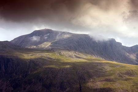 The search of Scafell Pike was called off after the walkers were found driving home