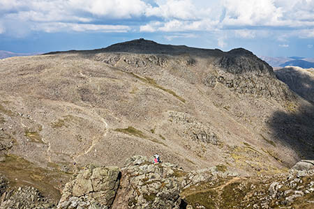 The pair reported they were stuck on large rocks on Scafell Pike