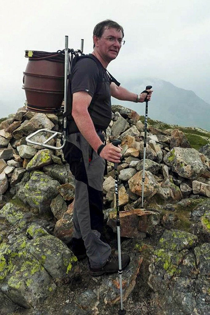 Mark Corr will carry 36 pints of beer to the summit of Scafell Pike