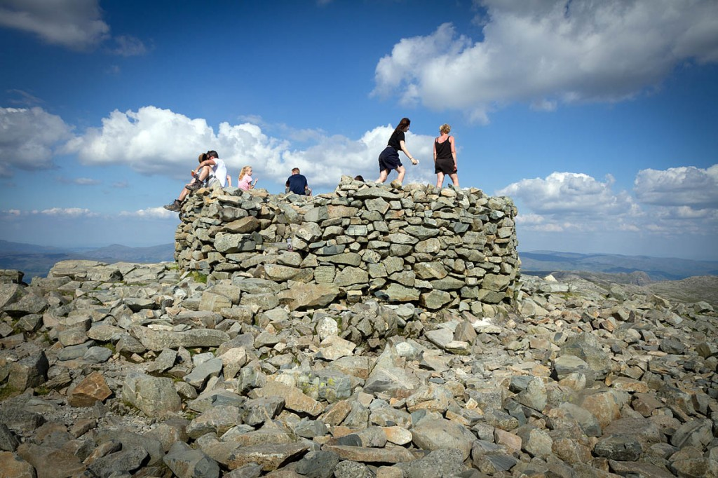 Walkers on the summit of Scafell Pike. Photo: Bob Smith/grough