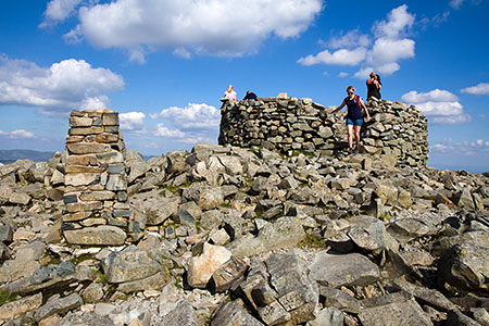 The summit of Scafell Pike, one of the three mountains tackled by challengers