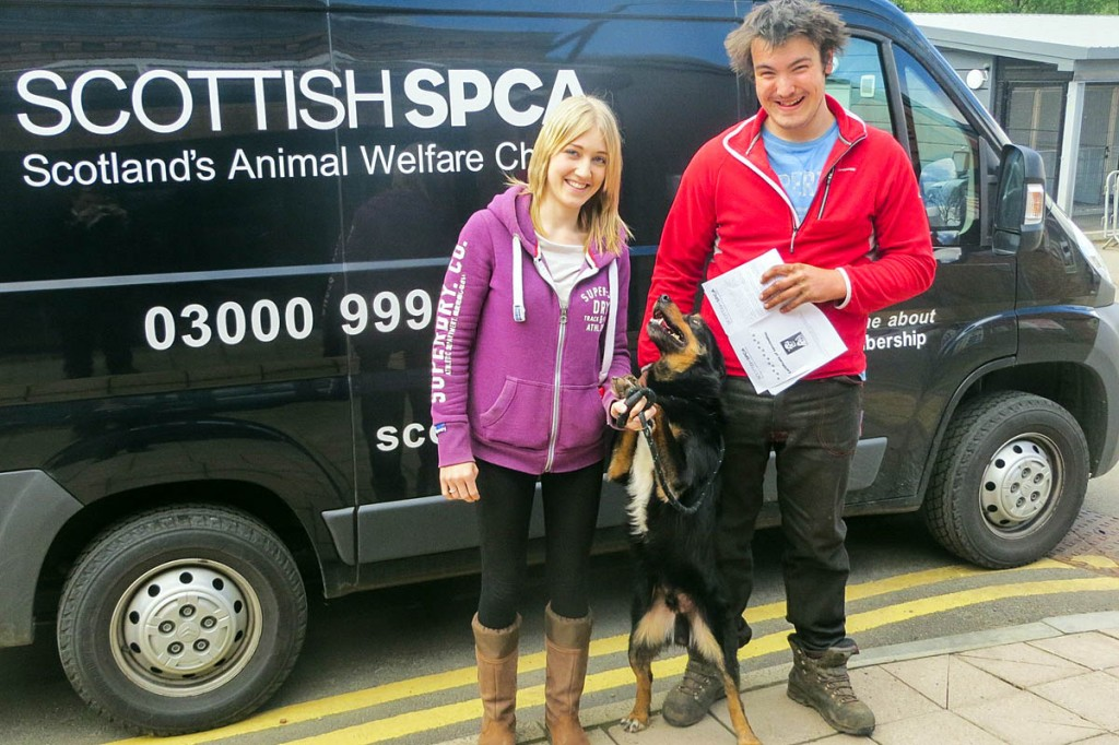 Sid was collected from the SSPCA's rescue centre. Photo: SSPCA