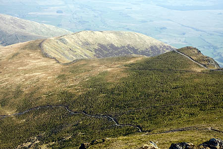 The woman was rescued from Scales Fell, east of Blencathra's summit