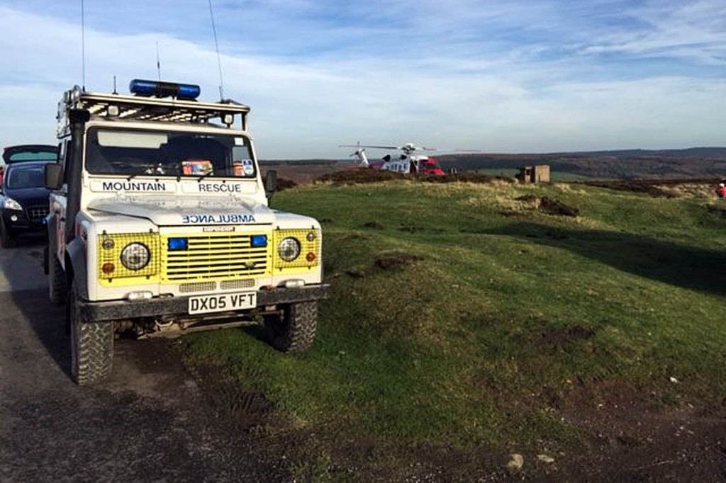 Rescuers have been joined in the search by the Coastguard Sikorsky S-92 helicopter. Photo: Scarborough and Ryedale MRT