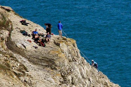 Climbing on the coast near Swanage, Dorset. Photo: Jim Champion CC-BY-SA-2.0