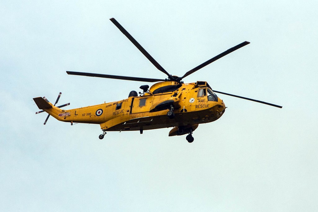 The RAF Sea King flew the Explorer Scout to hospital in Swansea