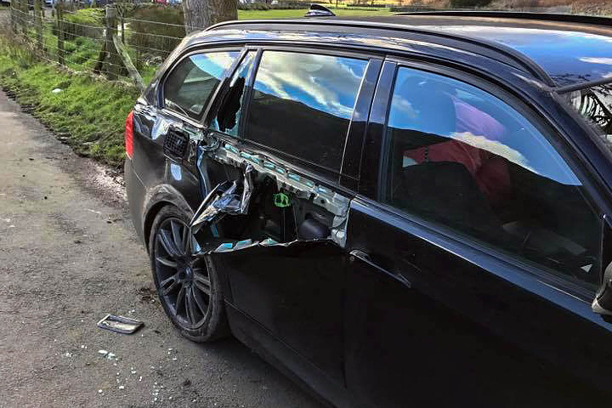 one of the cars suffered extensive damage photo paul wilson