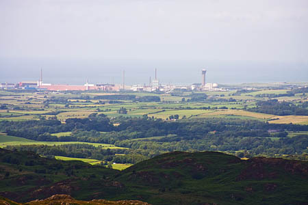 Sellafield, seen from the Lakeland fells