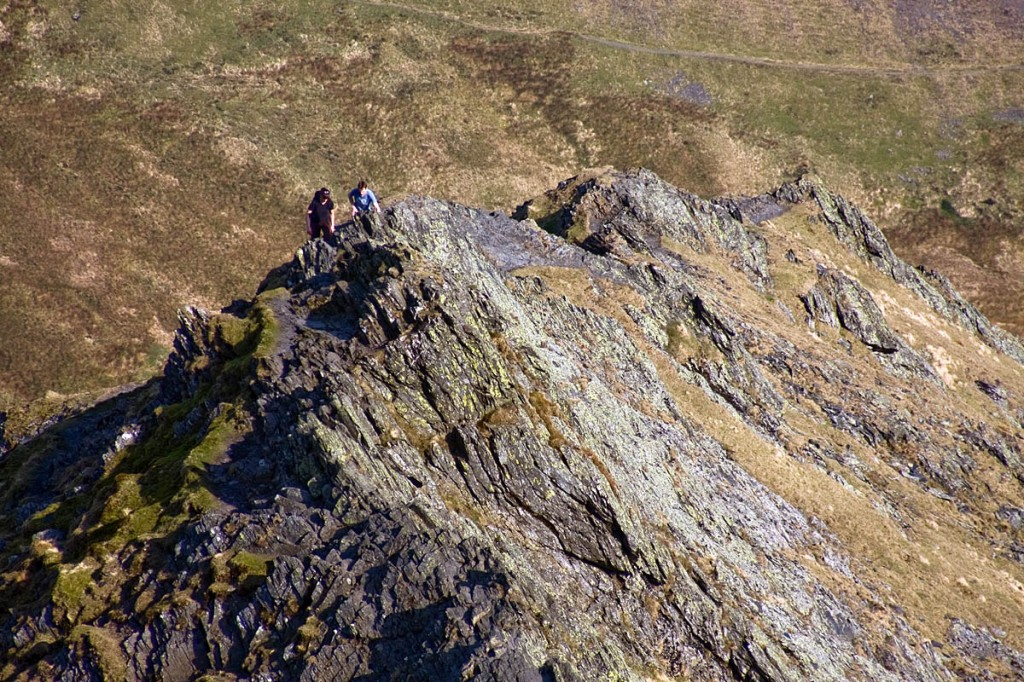 The two men became cragfast on Sharp Edge. Photo: Bob Smith/grough