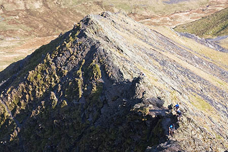 The man fell 10m while scrambling on Sharp Edge