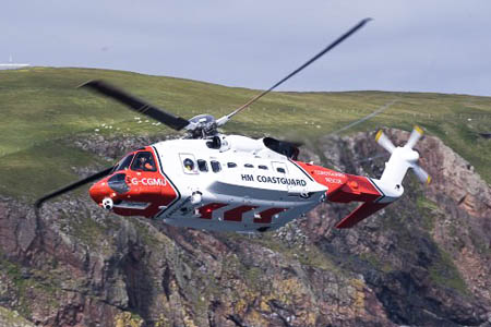The Stornoway Coastguard helicopter joined the rescue operation