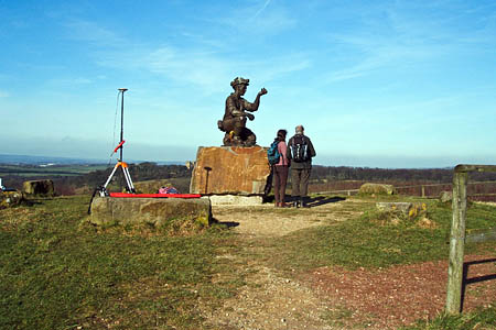 Silverhill, Nottinghamshire, with the surveyors' GPS antenna collecting height data