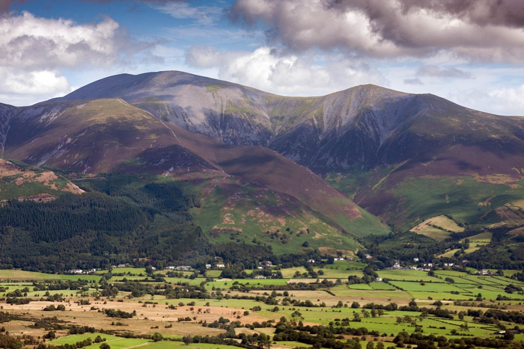 The mountain biker fell near the summit of Skiddaw