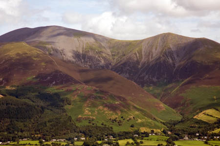 The exhausted walker was stretchered from Skiddaw