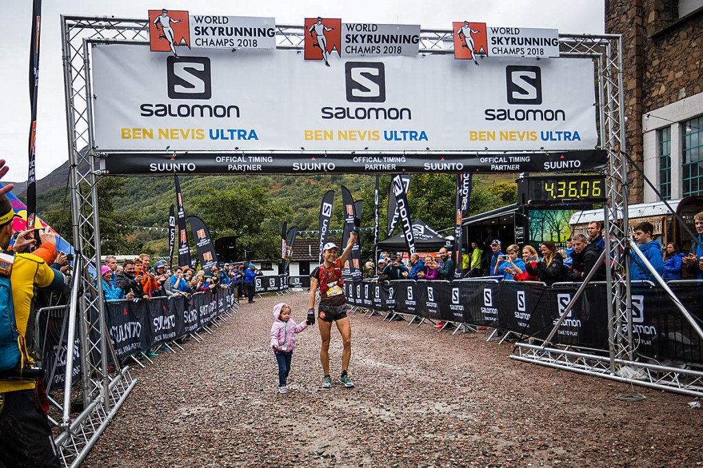 Ragna Dabats crosses the finish line with her daughter. Photo: No Limits Photography