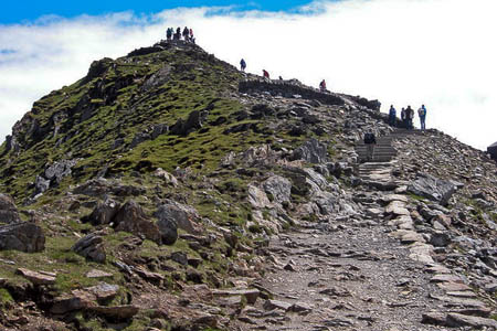 Snowdon's summit is rarely a place of solitude. Photo: Chris Worsley CC-BY-SA-2.0
