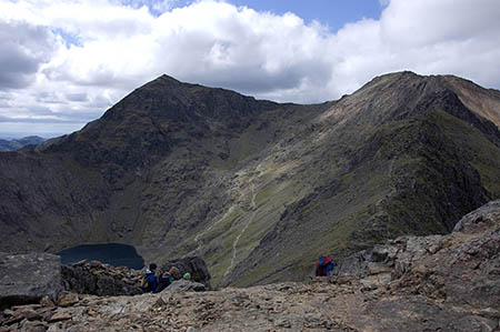 The women got stuck on the way up Snowdon. Photo: Chris March CC-BY-SA-2.0