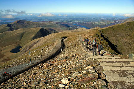 The woman fell on the Llanberis Path near Snowdon's summit. Photo: Jeff Buck CC-BY-SA-2.0