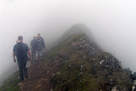 Conditions on Snowdon are often far from ideal and need good navigation skills. Photo: Dave Dunford CC-BY-SA-2.0