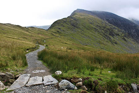 The Snowdon Ranger path and Clogwyn Du'r Arddu. Photo: Roger Davies CC-BY-SA-2.0