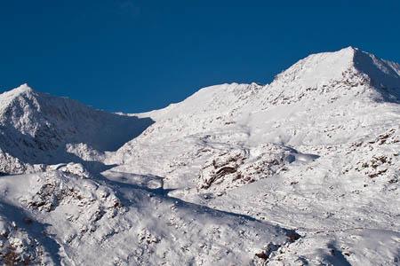 The Snowdon horseshoe in winter