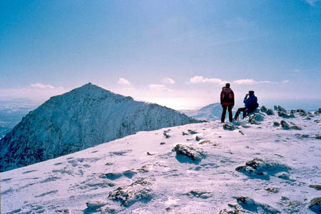 Snowdon in winter conditions. Photo: Photo: Steve Cadman CC-BY-SA-2.0