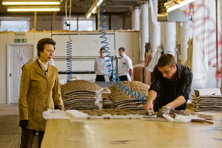 The Princess Royal visited Snugpak's Silsden factory last year to present the Queen's Award for Enterprise