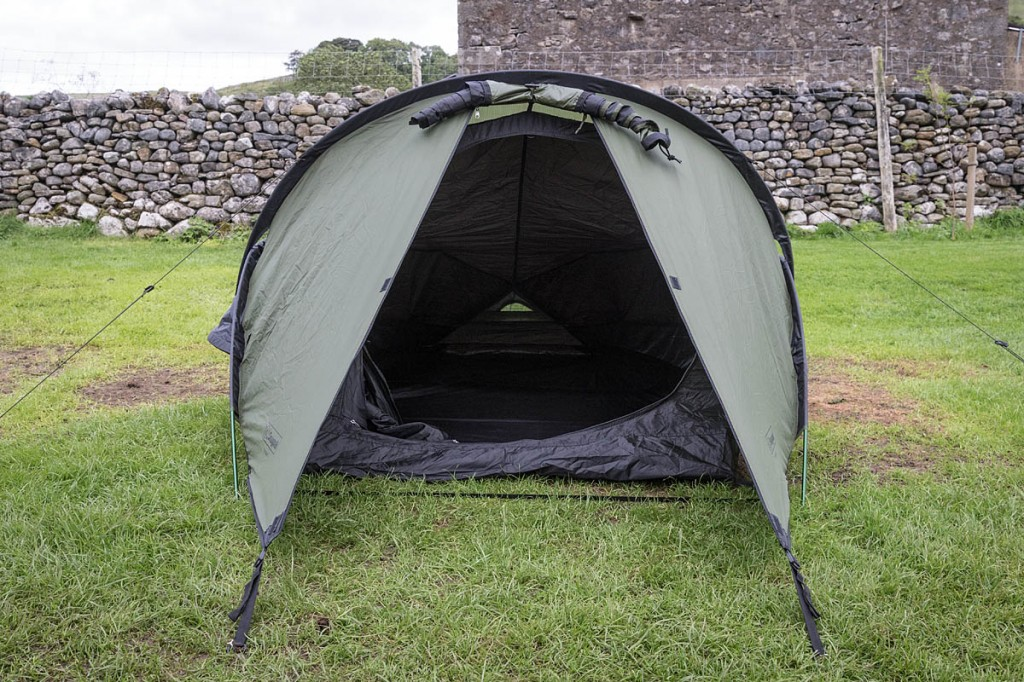 The Snugpak tent has a rugged feel. Photo: Bob Smith/grough