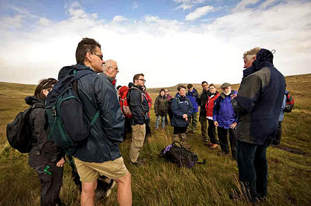 Walkers on the moors at last year's event. Photo: Dave Willis