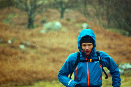 Stephen Pyke coming off a rain-sodden Ben More