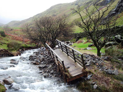 Many Lakeland bridges and paths, such as this site near Whiteless Pike,  were damaged in the floods