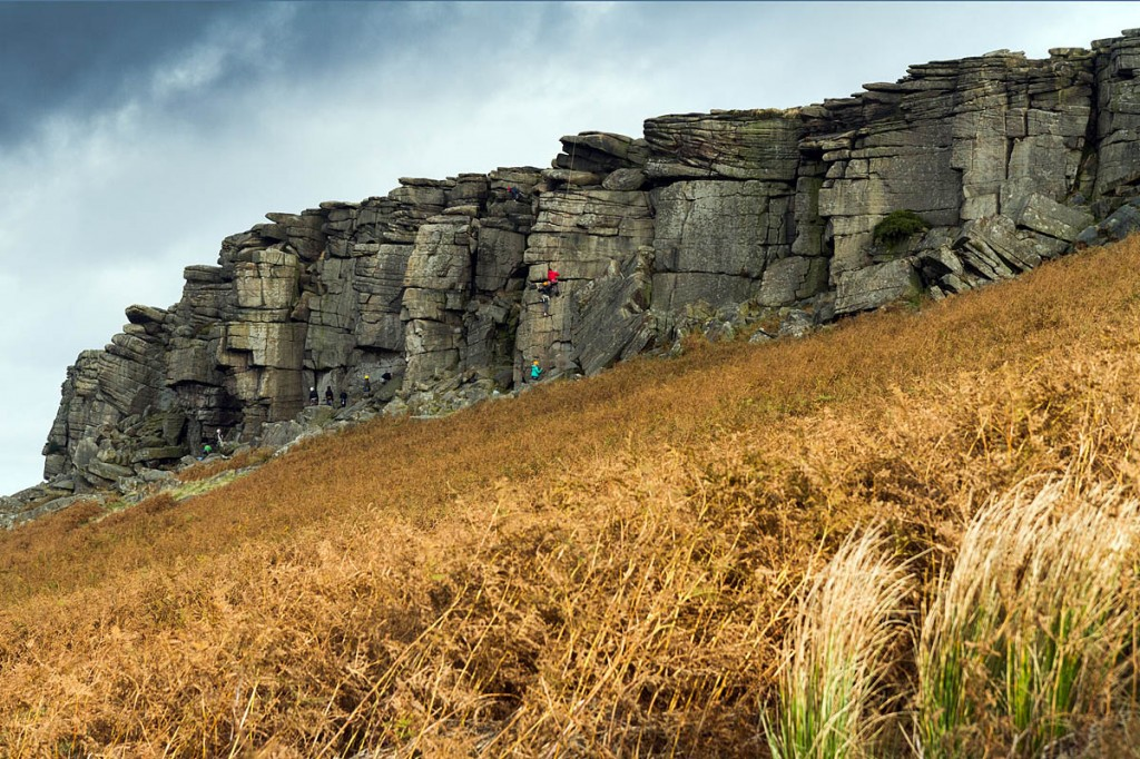 Mr Gordon's conservation work too place at Stanage Edge. Photo: Bob Smith/grough