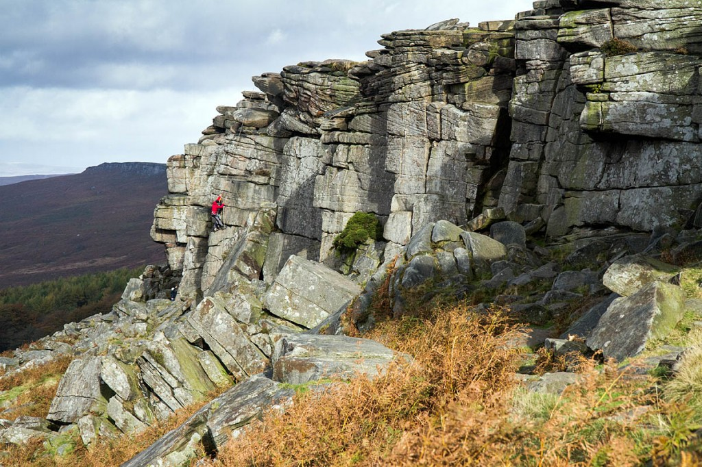 The campsite is close to the climbing crags of Stanage Edge
