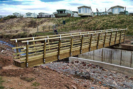 The new bridge on the Coast to Coast route at St Bees