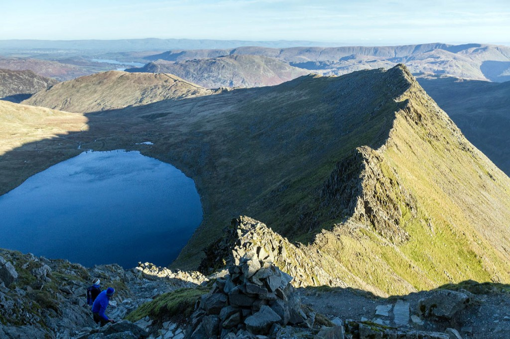 The man fell close to the 'bad step' on Striding Edge