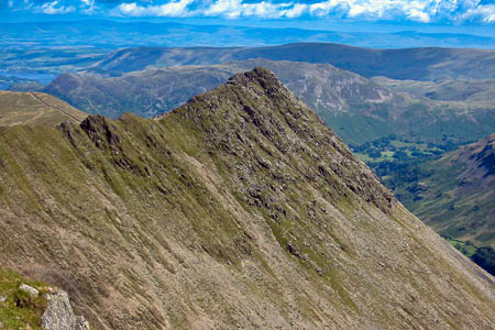 The walker collapsed while tackling Striding Edge