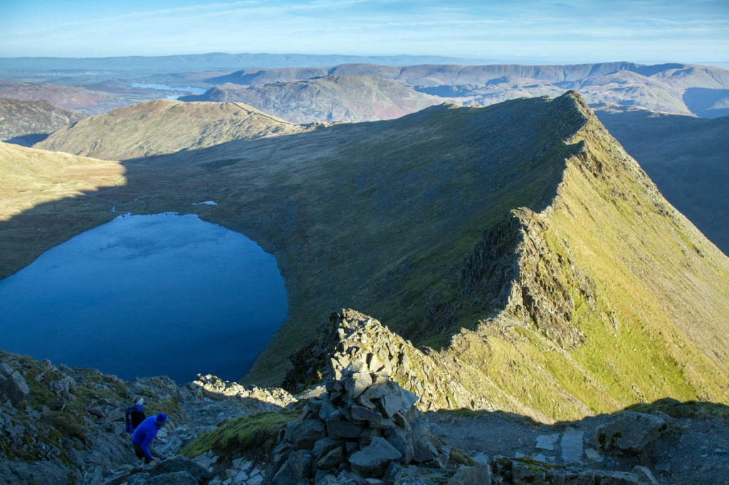Mr Harris stumbled and fell from Striding Edge
