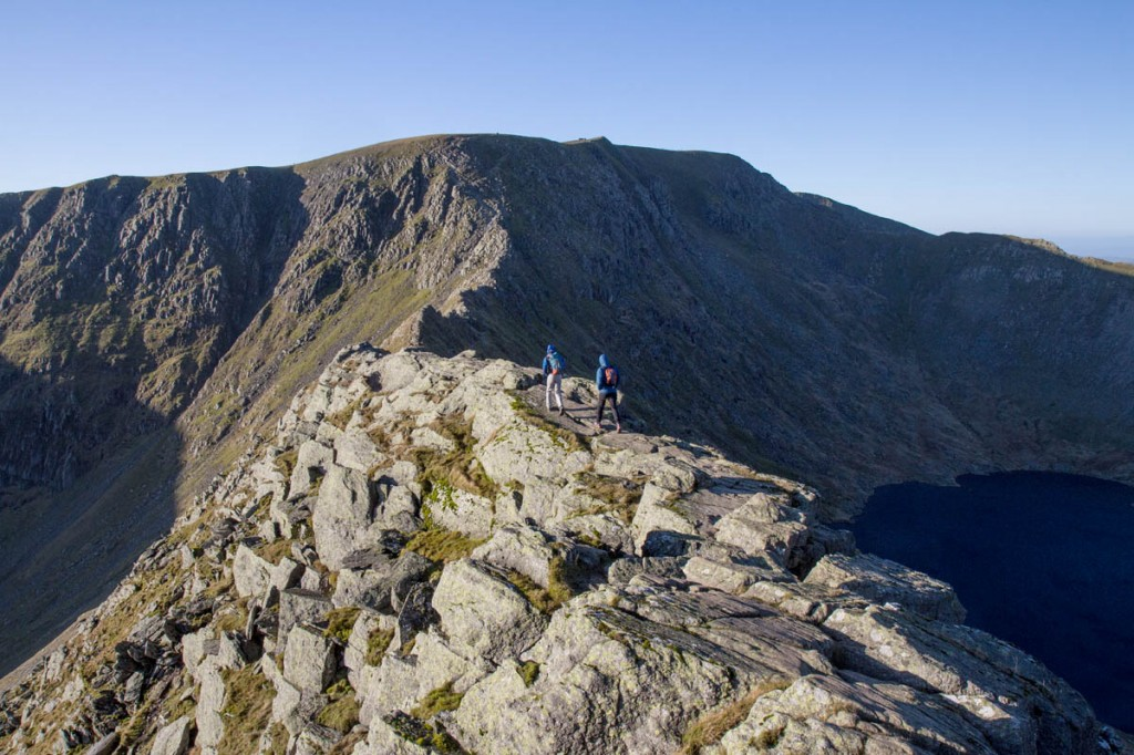 The walker fell from Striding Edge, a grade-one scramble route