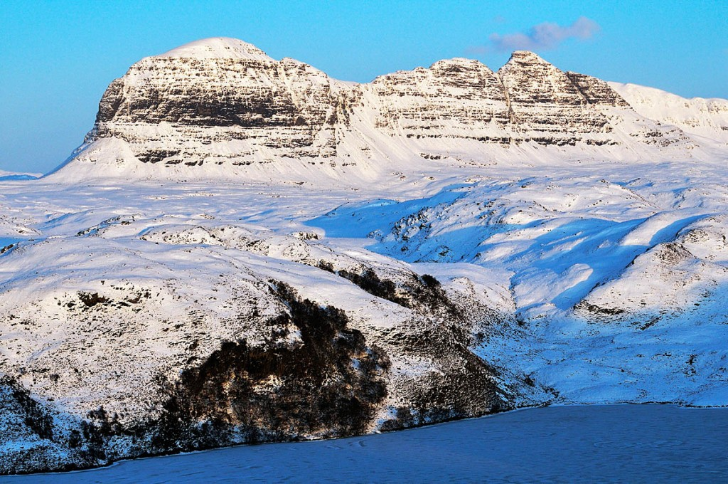 Suilven in winter. Photo: Iain Brownlie Roy