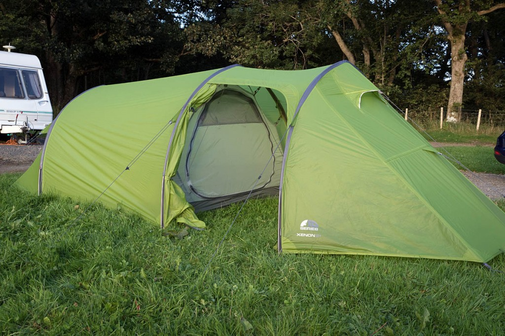 Grough's home for the Vango visit was an F10 Xenon 2+. Photo: Bob Smith/grough